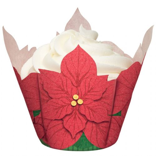 Holiday Poinsettia Baking Cups